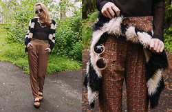 Catarina S. - River Island Cardigan, Kappahl Trousers, Asos Shades, Secondhand Top, Urban Outfitters Leopard Bralet, Secondhand Necklace, Topshop Ankle Socks, Fashionsin Loafers - Now we're talking; pt.2//