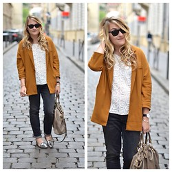 Paris Grenoble - Zara Blazer, Zara Top, Pimkie Jean Boyfit, Anniel Slippers, Ray Ban Sunnies, Miu Bag - Blondie Curl