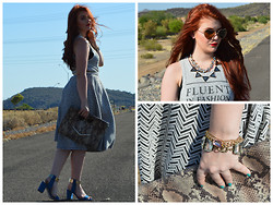 Verity Dae - Zara Heels, Abercrombie & Fitch Fluent In Fashion Top, Accessory Jane Big Crystal Bracelet - Fluent In Fashion