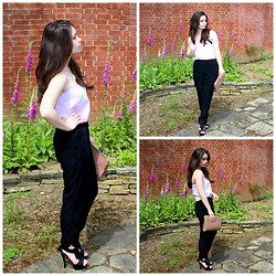 Holly Court - Missselfridge Cami, Miss Kg Heels, River Island Trousers - Purple