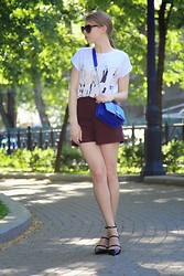 Daria Rozina - Asos Bag, Asos Shorts - Relationship status:complicated shoes