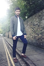Boris Mcdonaty - Topman Bomber Jacket, Zara Marine Pants, Zara Brogues - Shades of Cool