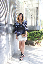 Yuka I. - Free People Blouse, Sugarlips Skirt, Isabel Marant Sandals - Downtown boho