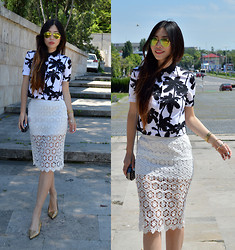 Cassandra Y. Liu - Oasap Cropped Top, Oasap Lace Skirt, Oasap Sunnies - Love Lace