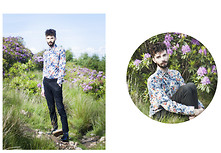 Matt Fielding - Zara Floral Shirt, Topman Black Trousers, Red Herring Patent Brogues - Floral