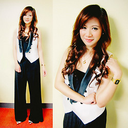 Jannelle O. - Forever 21 Black And White Vest, Details Jumpsuit - One Piece