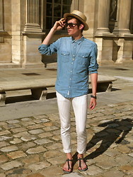 "Dylan Valente - Marc By Jacobs Pants, Asos Sandals - ""Marine"""