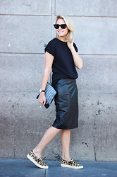 Lian G. - H&M Shirt, Zara Skirt, Céline Clutch, W Concept Shoes - Favorite Skirt