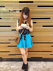 JING Y. - Forever 21 Owl Translucent Crop Top, Wego Turquoise Skater Skirt, H&M Wedged Sneakers - Start on a fresh page today