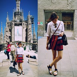 Yuki Banez - United Colors Of Benetton Top, Zara Skirt, Pimkie Sandals, Burberry Crossbody, Ray Ban Sunnies - Playing tourist