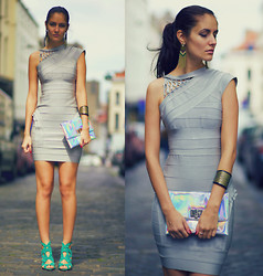Ruxandra Ioana - Celebindress Bandage Dress - Miss Grey