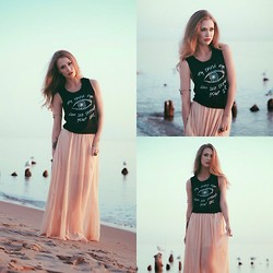 Julia Weber - Dazey The 'My Third Eye' Muscle Tank, Miss Kl Maxi Skirt - My Third Eye