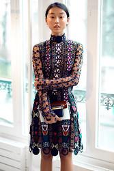 Margaret Zhang - Mary Katrantzou Tikiman Dress, Mary Katrantzou Leather Panelled Bag - Mary, Mary, Operandi.