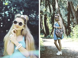 ♡Anita Kurkach♡ - Sheinside Dress, Wholesale Selebshades Glasses, Topshop Bagpack, Wholesale7 Shoes - Me disfrazo de ti.  Te disfrazas de mí.