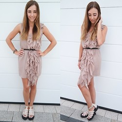 Clean Couture Lu - H&M Dress, H&M Shoes, Maingold Bracelet - Nude ease
