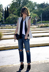 Tina Astra - Dries Van Noten Vest, Rag & Bone Denim - Crossings