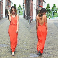 FEEblog - Samsoe & Dress, Won Hundred Sandals - Orange fever