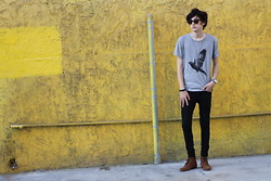 Eric Jess - Paul Smith Tee, Asos Boots, Nixon Watch - His