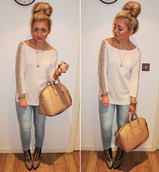 Lydia Jones - Zara Top, Asos Jeans, River Island Boots, Givenchy Handbag - Jewelled Arms