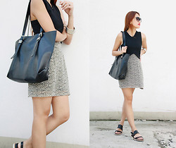 Danika Rio Navarro - Zara Crop Top, Zara Black Leather Bag - An Alternative