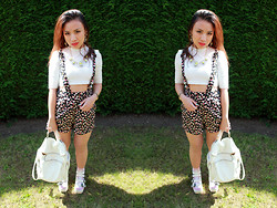 Michelle Erica M. - Topshop Top, Yayer Shorts, Accessorize Backpack - What's going on in that beautiful mind