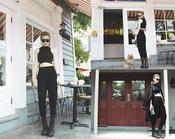 Dva Lau - Missguided Cropped Top, H&M Harem Pants, Givenchy Boots, Rick Owens Clutch - Icequeen