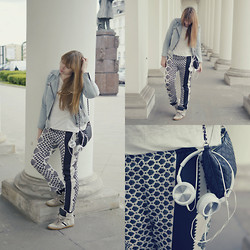 Mary Kate K. - Zara Pyjama Pants, Gap Jeans Jacket - Just Jack - Writers Block