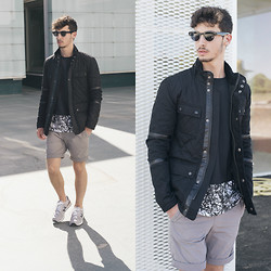 Alberto Mason - Zara Jacket, Akaclothing Tshirt, Adidas Shorts, New Balance Sneakers, Zerouv Sunglasses - Empty pool
