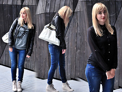 Robin Sparkles - Seppälä Wedges, H&M Jeans, Bershka Jacket, Forever 21 Sweater - Move Along