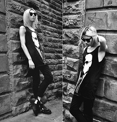 Milex X - Swaychic Karl Lagerfeld Tank, Sway Chic Black Cut Out Boots - Dressed up just to hear your voice