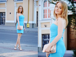 Sispolitan Lach - Dress, Mohito Bag, Centro Shoes, Claire's Watch - Baby blue dress