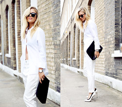 Isabella Thordsen - Ray Ban, Asos - All white look today
