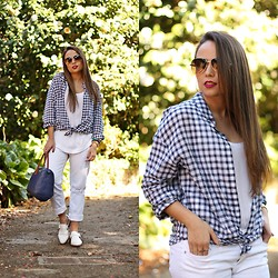 Mondaytofriday Blog - Mango Shirt, Zara Pants, Zara Shoes - Check shirt