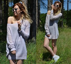 Anna - Topshop Jumper, Primark Sunglasses, Asos Boots - The jumper dress