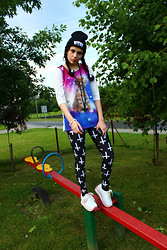 Mana - Black Milk Clothing Cross Of St.Peter Leggings, Butik Galaxy Cat - Ja Ja Jackpot