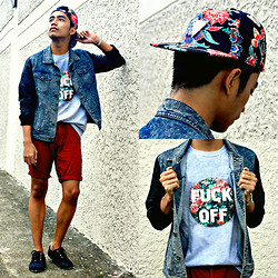 Bryan Laroza - Markus Denim Jacket, Rebel Gear Snapback, The Ranz Project Shirt - Dean's Hipster