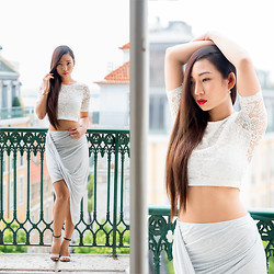 Minh Nguyen - Zara Skirt, Zara Heels, H&M Top - The balcony