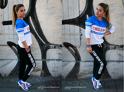 Katarzyna Gorlej - Cropp Sweatshirt, Cropp Sweatpants, Adidas Sneakers, Protas Fashion Braceletts - STAY REAL STAY CHILLIN