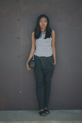 Theresa O. - Alexander Wang Shirt, R13 Denim Jeans, Chanel Bag, Ancient Greek Sandals - Laid-back