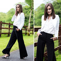 Anouska Proetta Brandon - H&M Pants, Marciano Jacket - Baggy Trousers.