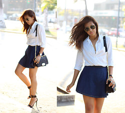 Génesis Serapio - Gap Shirt, Persun Skirt, Persun Bag, Zara Heels - Simple summer uniform
