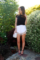 Lauren Wilson - Primark Top, Sheinside Shorts, Missguided Shoes - Monochromatic