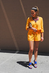 Christina C - Marciano Romper, Zara Pumps, Banana Republic Necklace - Canary