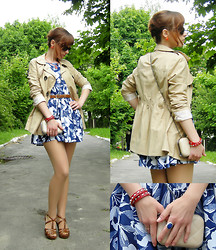 "Galina ""Mossska"" Pokhyla - Diy Floral Dress, Atmosphere Beige Cotton Jacket, Ebay Blue Stone Ring, Ebay Knuckle Quilted Clasp Case Clutch, New Look Diy Rivet Heels - #71 Floral summer blues"