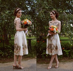 Anastasia M - Asos Bardot Dress, Asos Hairdress, Basic Heels - My Vintage Prom