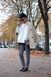 Curtis Yu - White Top, Blazer, Trousers, Alexander Wang Shoes, Fendi Clutch - Paris, I have been missing you