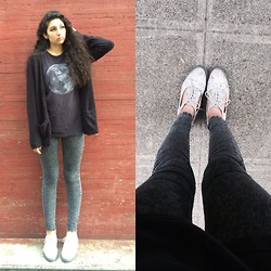 Celina G - H&M Black Skinnies, Dr. Martens Floral Cut Out Docs - The skies and my eyes are crying for you