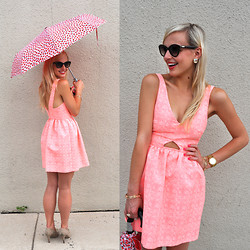 Lauren Vandiver - Second Act Dress, Kate Spade Umbrella, Kate Spade Sunglasses, Chinese Laundry Heels, Kendra Scott Earrings, Michael Kors Watch, Pixie Lipstick, Pixie Nail Polish - BIRTHDAY DRESS