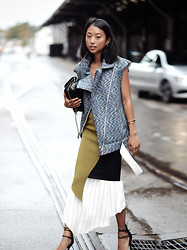 Margaret Zhang - Cameo The Label Vest, Benedetta Brezicches Clutch, Bec & Bridge Layered Dresses - Growth Formula