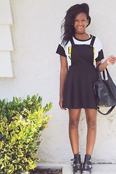 Candace P. - Tilly's Overall Dress, Tobi Ankle Boots - There is something I'm trying to find.